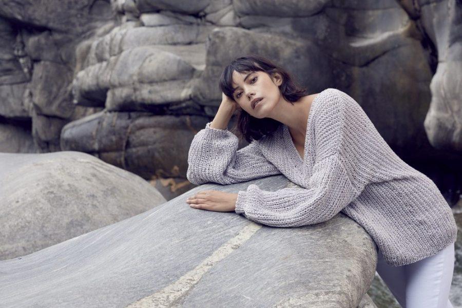 modele lang yarns femme tricot sunshine