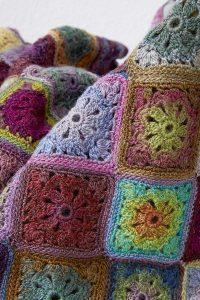 crochet couverture plaid laine