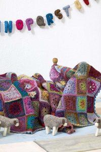 plaid laine couverture crochet