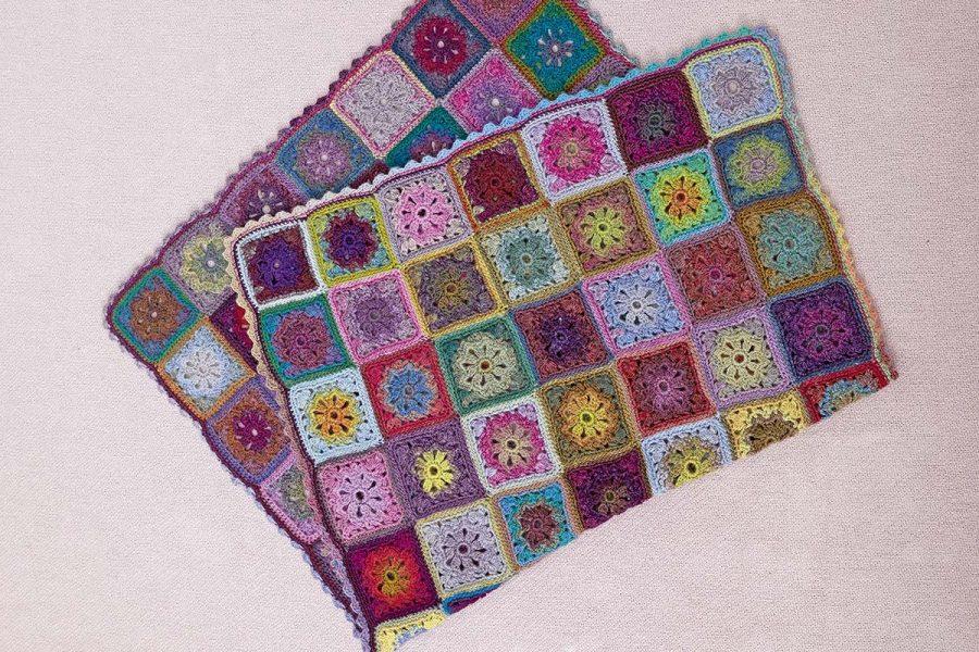 crochet couverture laine plaid