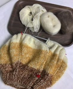 tricot rayures aiguille circulaire