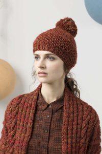 Bonnet tricot laine Finn Lang yarns