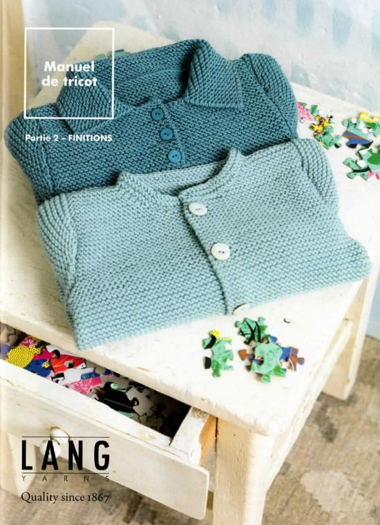 livre tricot les finitions lang yarns