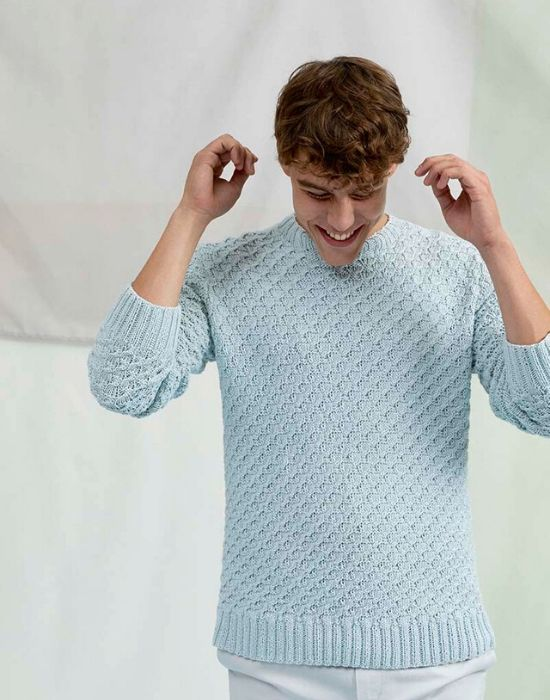 pull homme tricot coton lang yarns