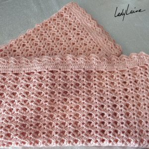 Couverture crochet laine baby cashmerino Lang Yarns