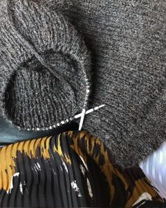 tricot à aiguille circulaire