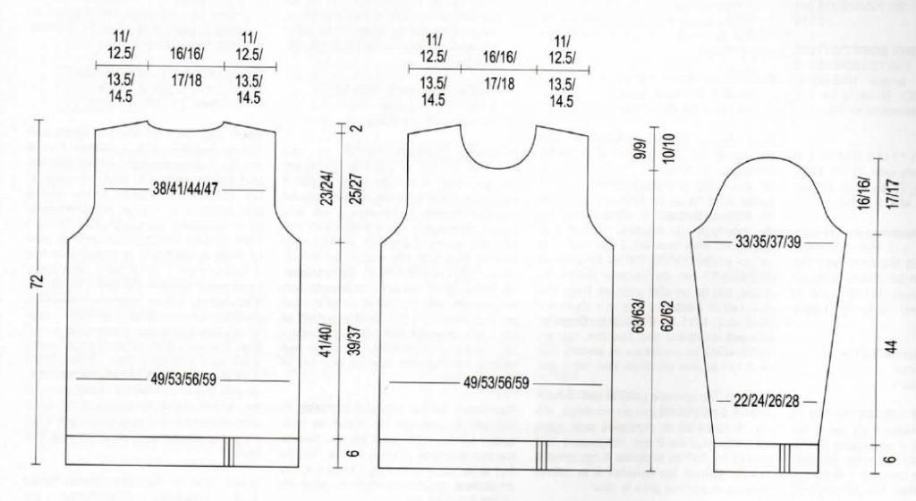 schéma pour pull homme