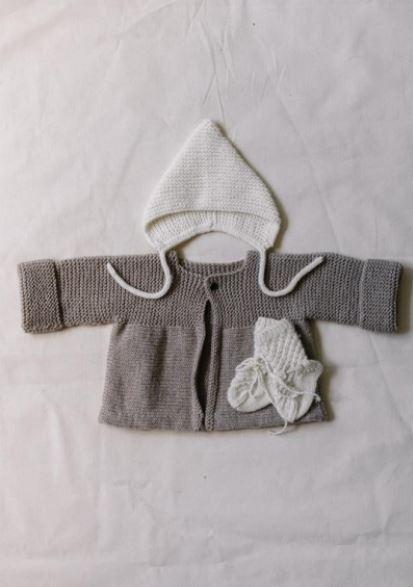 Beguin Idun, gilet Frej et chaussettes Vile livre tricot