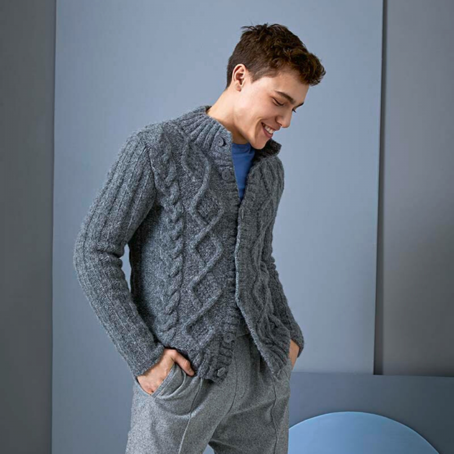 gilet homme laine lang yarns