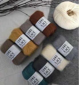 lace mohair et soie