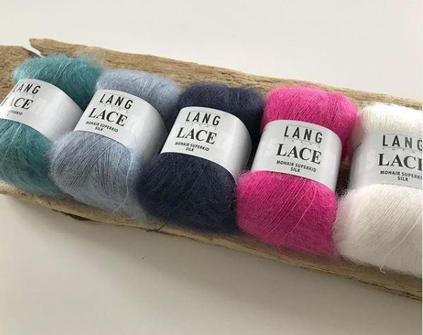 lang yarns mohair et soie lace