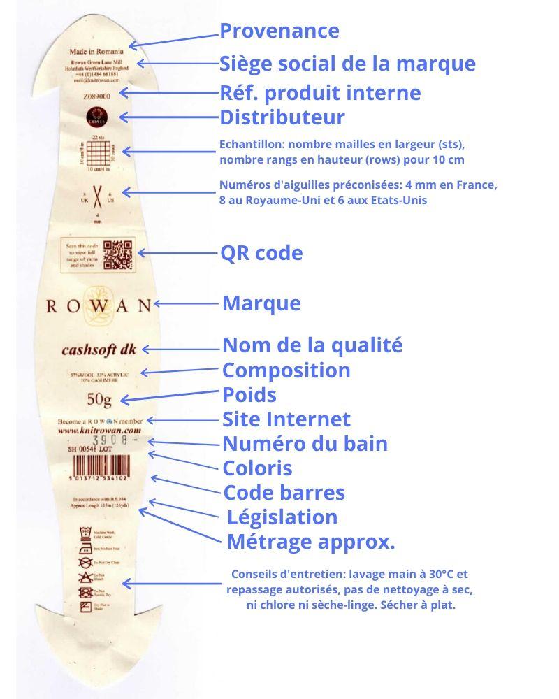 lire une étiquette rowan