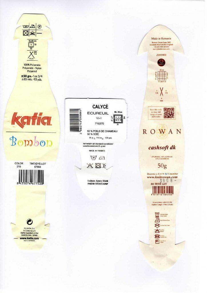 etiquettes anny blatt rowan katia