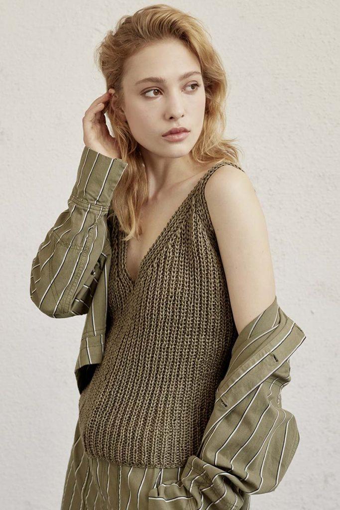 modele tricot débardeur