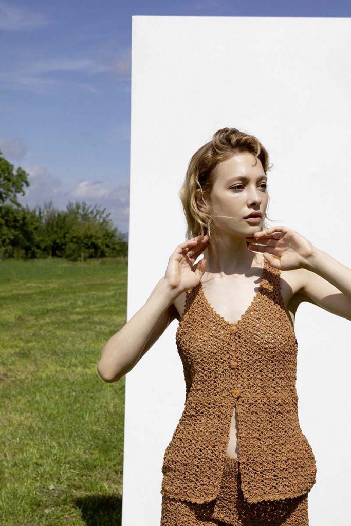 débardeur coton tricot