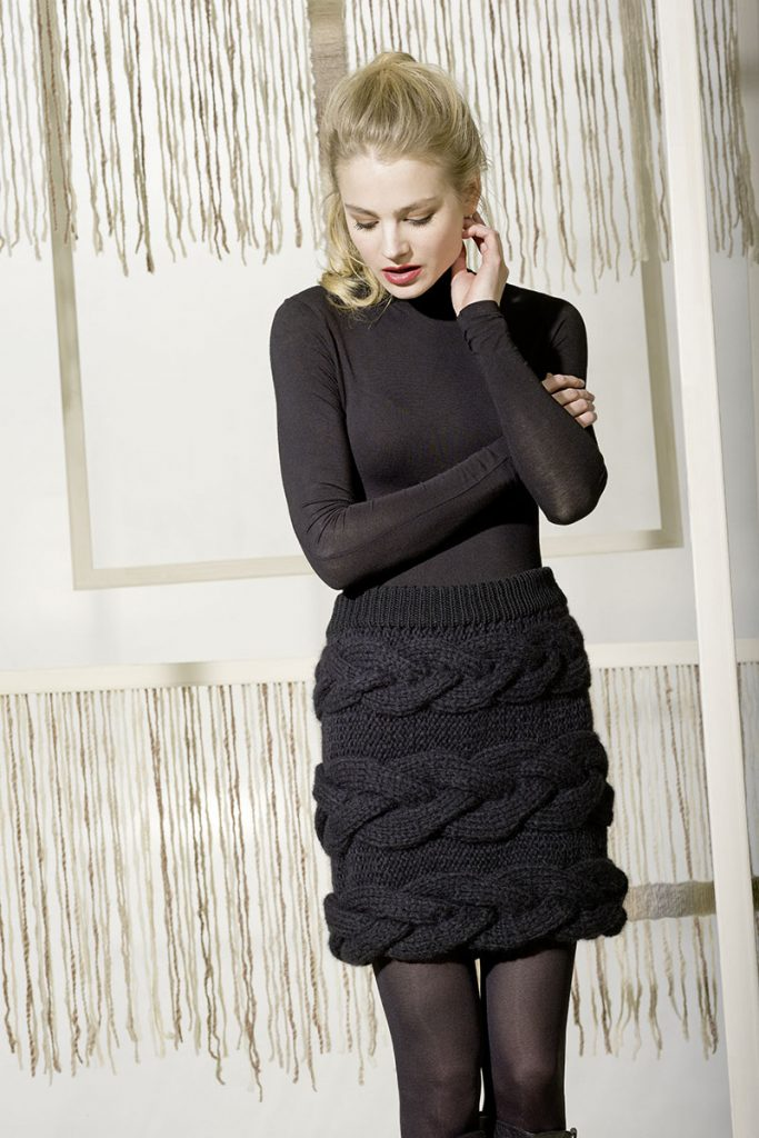 tricoter une jupe à torsades