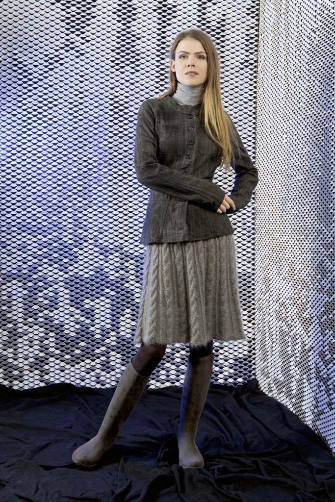 jupe lang yarns femme tricot