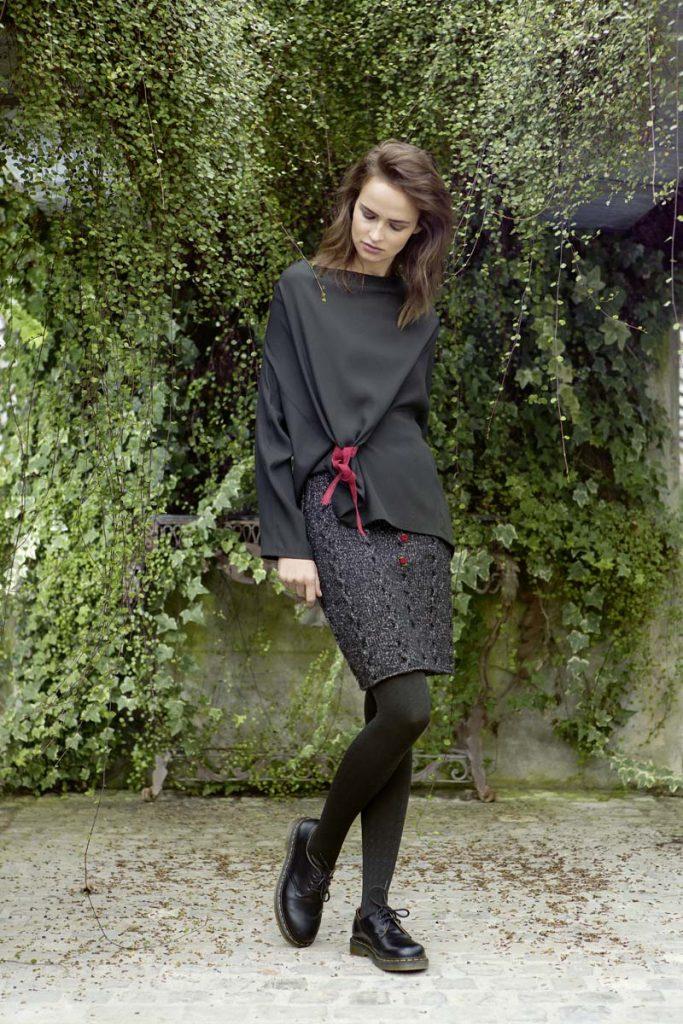 jupe courte tricot