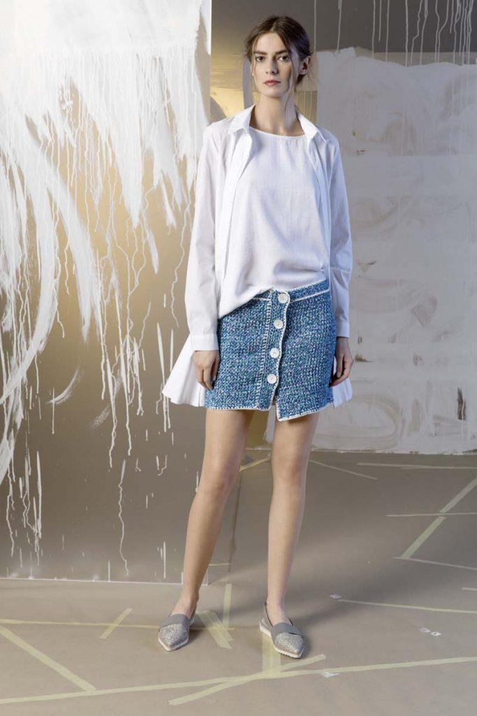 jupe style jean