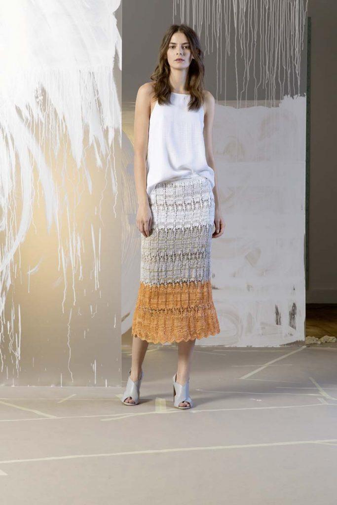 longue jupe tricot