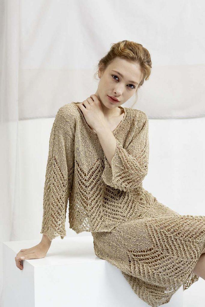 tricoter une jupe en coton