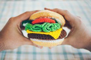 burger crochet amigurumi