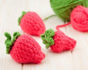 fraises crochet