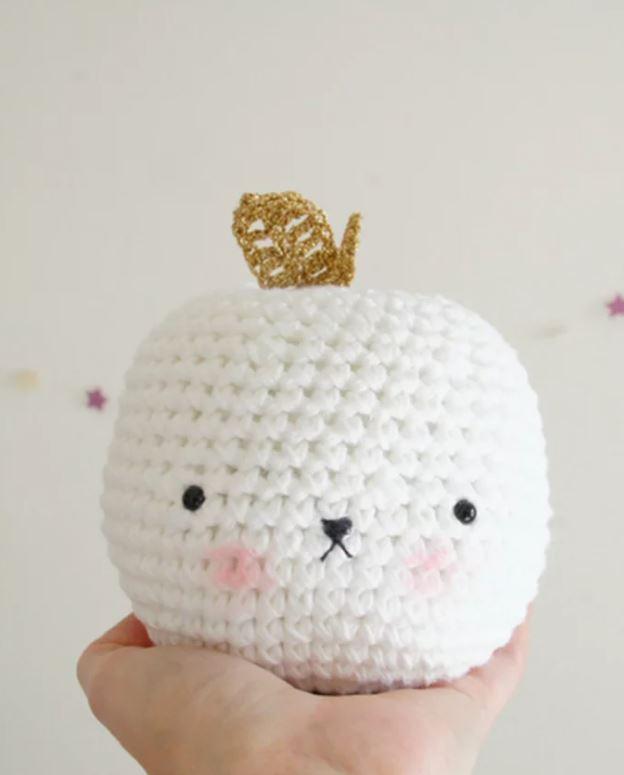 crochet pomme