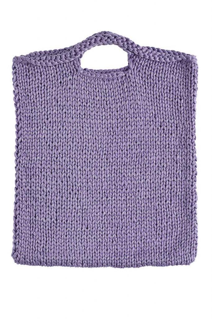 sac tricot jersey endroit