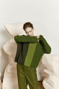 pull vert couleur tendance automne hiver