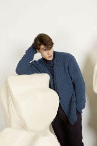 gilet homme bleu tricot