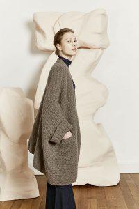 manteau femme tricot couleurs tendances automne-hiver