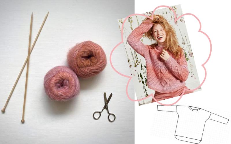 tricoter un pull sans modèle ni explication