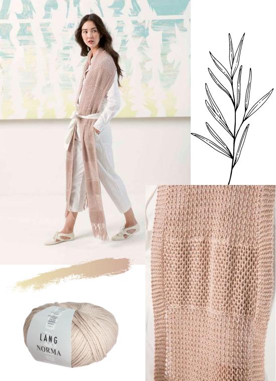 echarpe longue en coton Norma de Lang Yarns