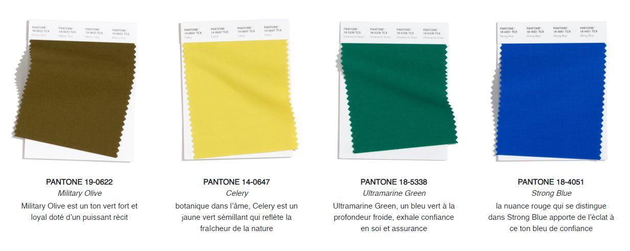 Pantone couleurs tendances