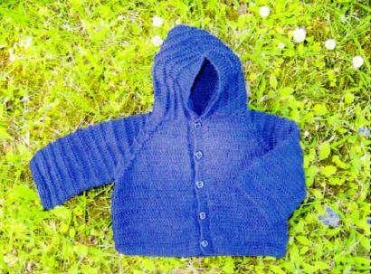 tricoter une capuche simple