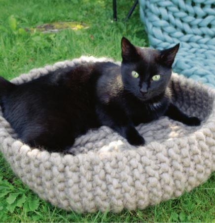 tricoter un panier pour chat