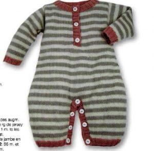 layette combinaison tricot