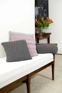 coussin tricot jacquard