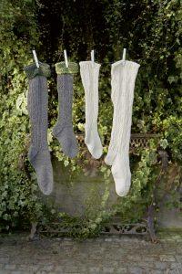 chaussettes hautes tricot