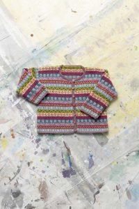 gilet enfant jacquard tricot