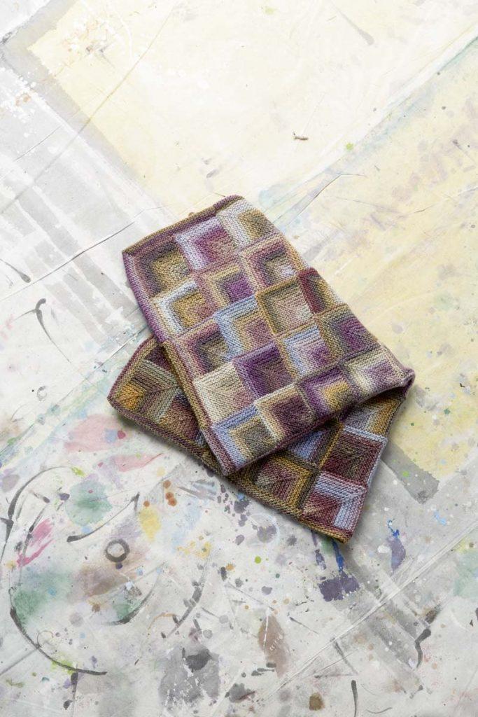 plaid en laine tricot