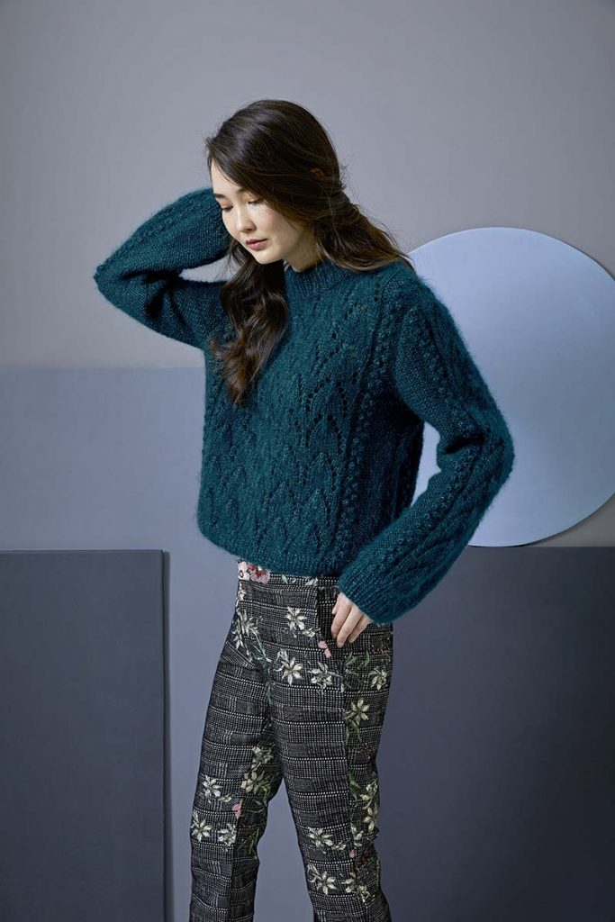pull femme mohair trend lang yarns