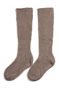 chausettes montantes tricot