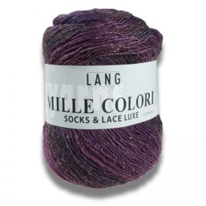 mille coloris socks and lace luxe lang yarns