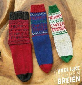 chaussettes noël tricot