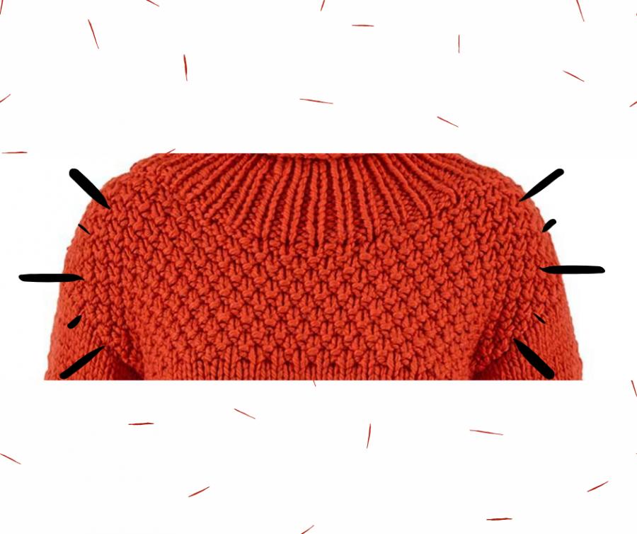 tricot point de blé