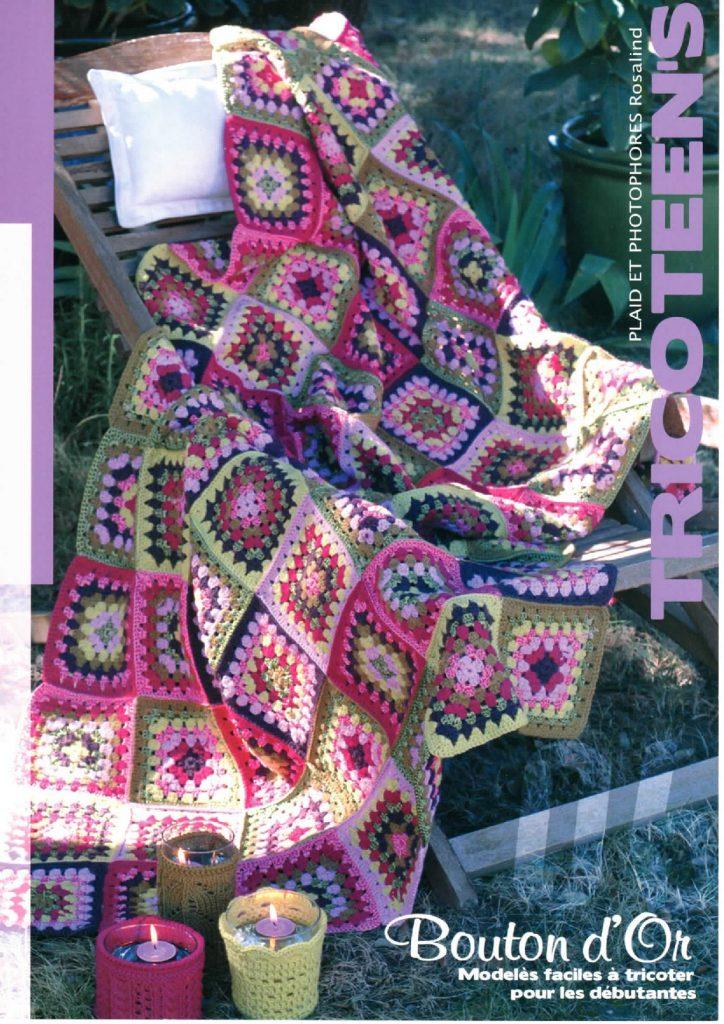 plaid granny squares couverture