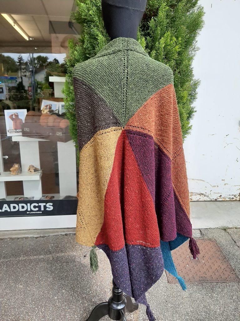châle 9 couleurs laine donegal