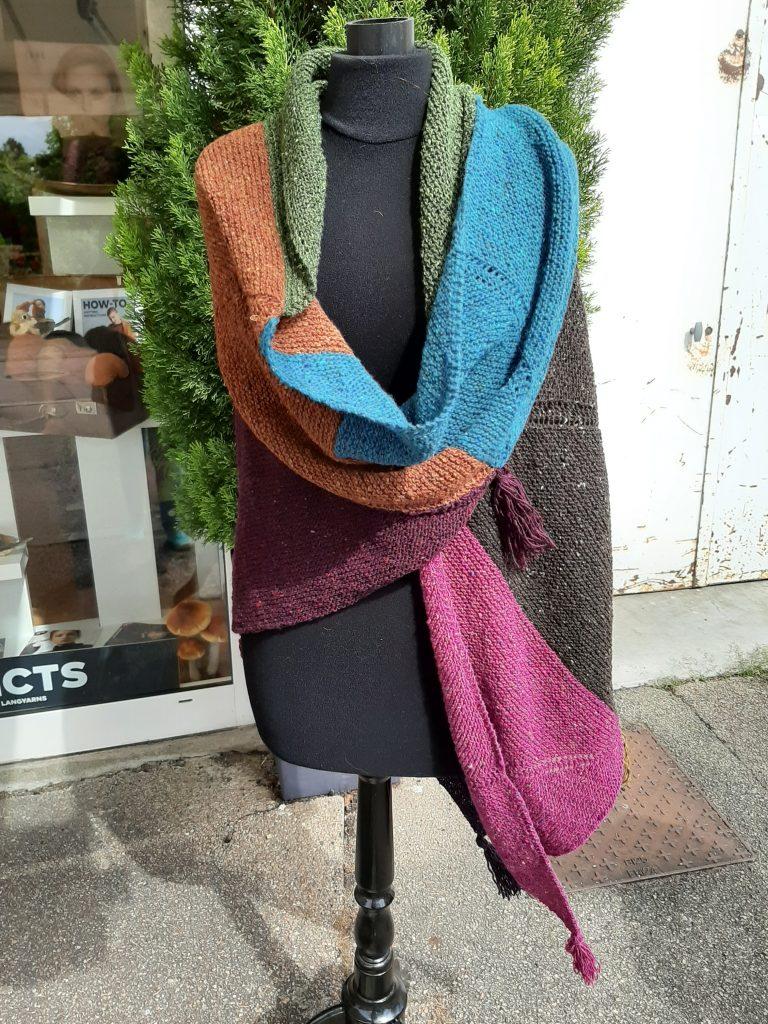 Châle laine femme